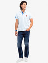 MULTI COLOR BIG PONY POLO SHIRT