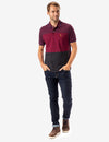 HEATHER COLORBLOCK STRIPE POLO SHIRT - U.S. Polo Assn.