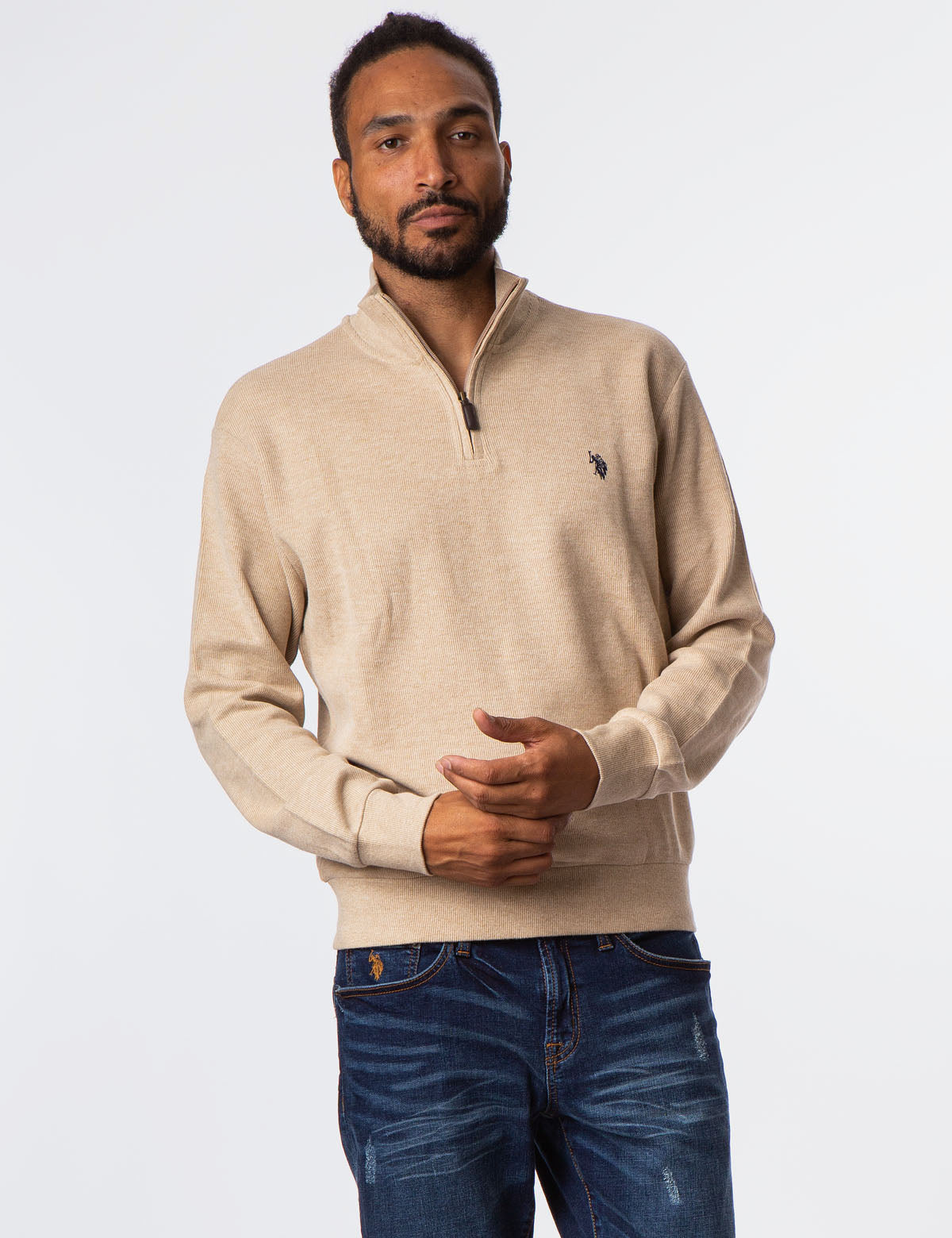 QUARTER ZIP SWEATSHIRT - U.S. Polo Assn.