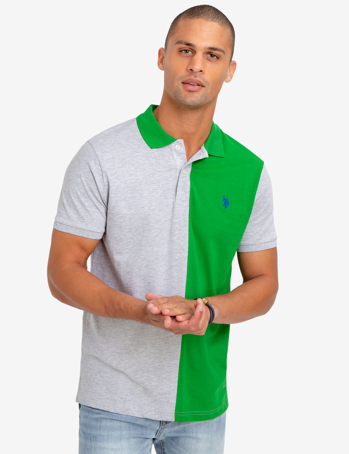 COLORBLOCK JERSEY POLO SHIRT