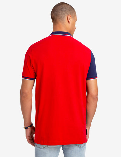 DIAGONAL COLORBLOCK JERSEY POLO SHIRT - U.S. Polo Assn.