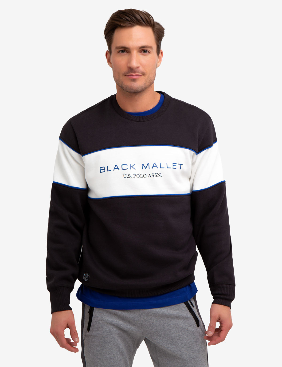 BLACK MALLET CREW NECK SWEATSHIRT