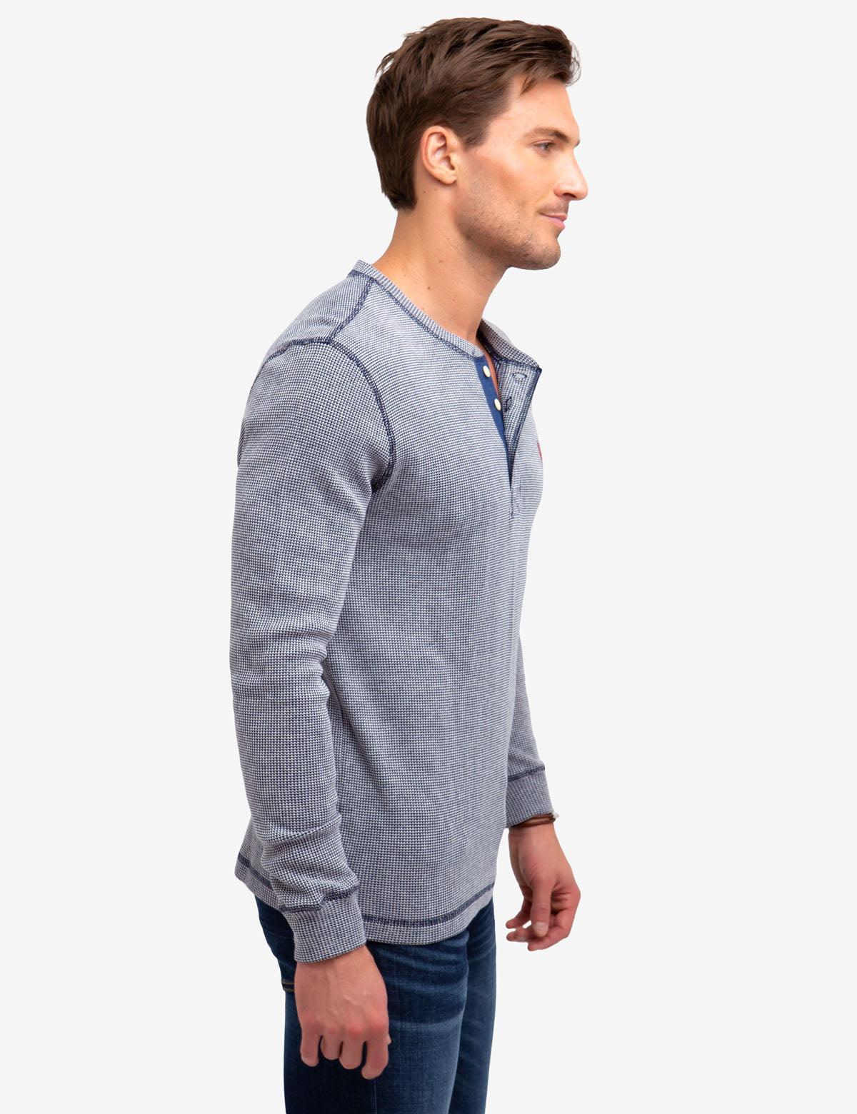 STRIPED THERMAL HENLEY - U.S. Polo Assn.