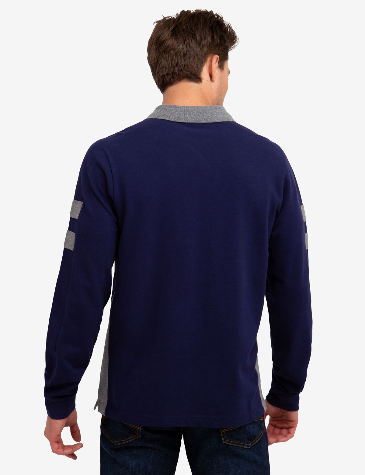 SIDE STRIPE LONG SLEEVE POLO SHIRT - U.S. Polo Assn.