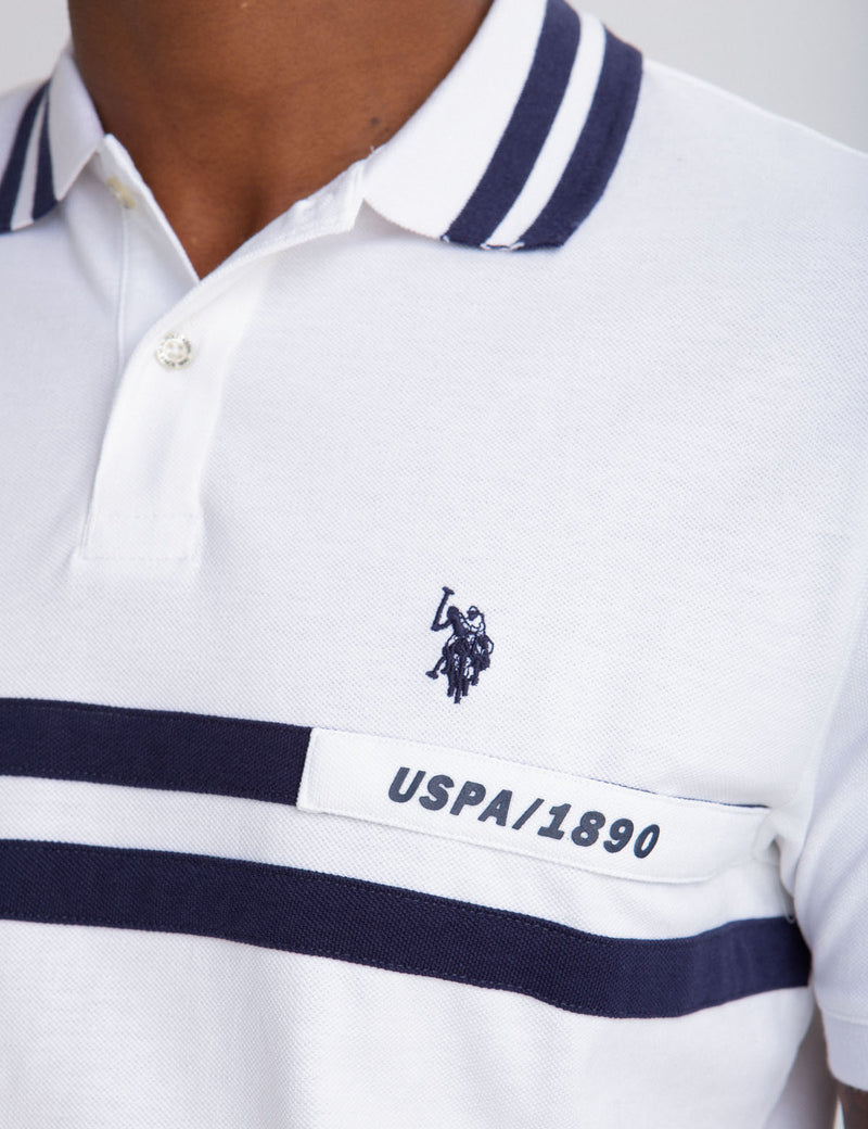 RUBBER DETAIL POLO SHIRT