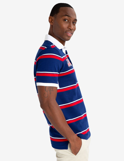 STRIPED TWILL POLO SHIRT - U.S. Polo Assn.