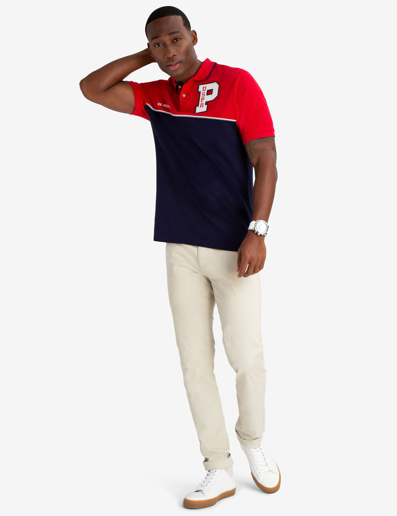 COLORBLOCK USPA PATCH POLO SHIRT