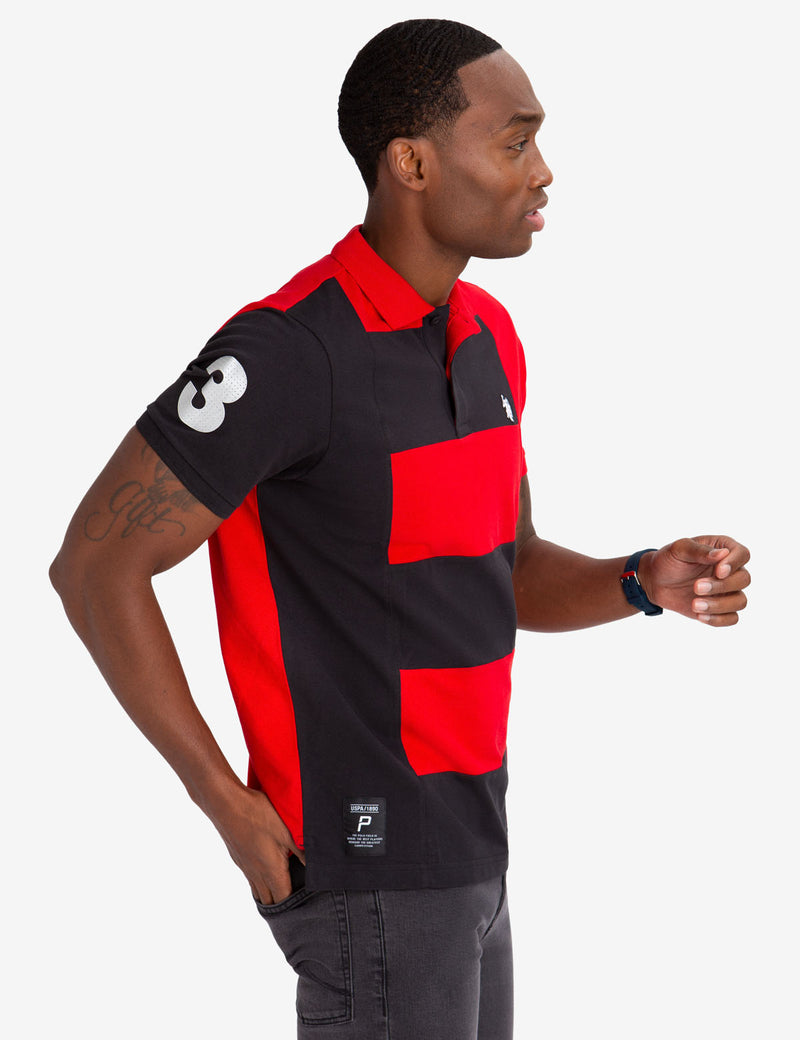 SIDE COLORBLOCK VERTICAL POLO SHIRT