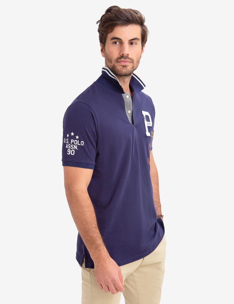 USPA LOGO PATCH POLO SHIRT