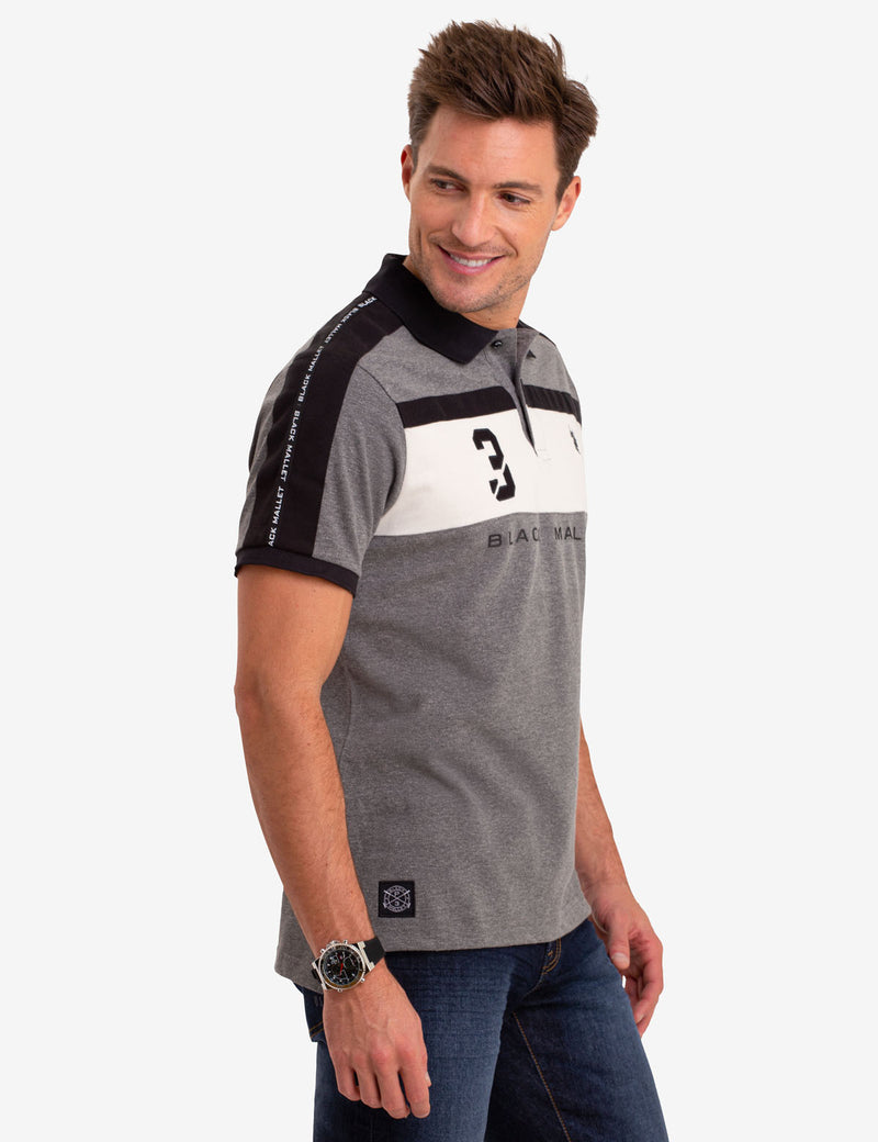 COLORBLOCK POLO SHIRT WITH SIDE TAPING