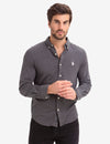 BLACK MALLET SLIM FIT JERSEY LONG SLEEVE SHIRT - U.S. Polo Assn.