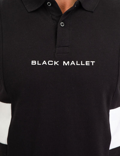 BLACK MALLET SIZE STRIPE POLO SHIRT - U.S. Polo Assn.