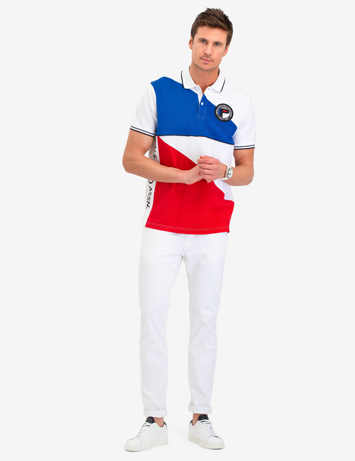 GEOMETRIC COLORBLOCK POLO SHIRT - U.S. Polo Assn.