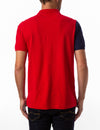 EMBOSSED CHEST LOGO DIAGONAL COLORBLOCK POLO SHIRT - U.S. Polo Assn.