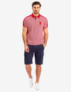 JACQUARD SHOULDER STRIPE POLO SHIRT - U.S. Polo Assn.