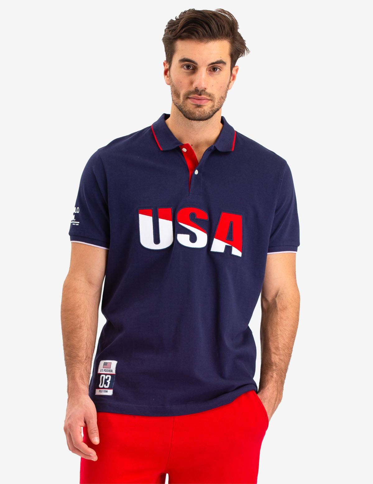 USA APPLIQUED LOGO POLO SHIRT - U.S. Polo Assn.