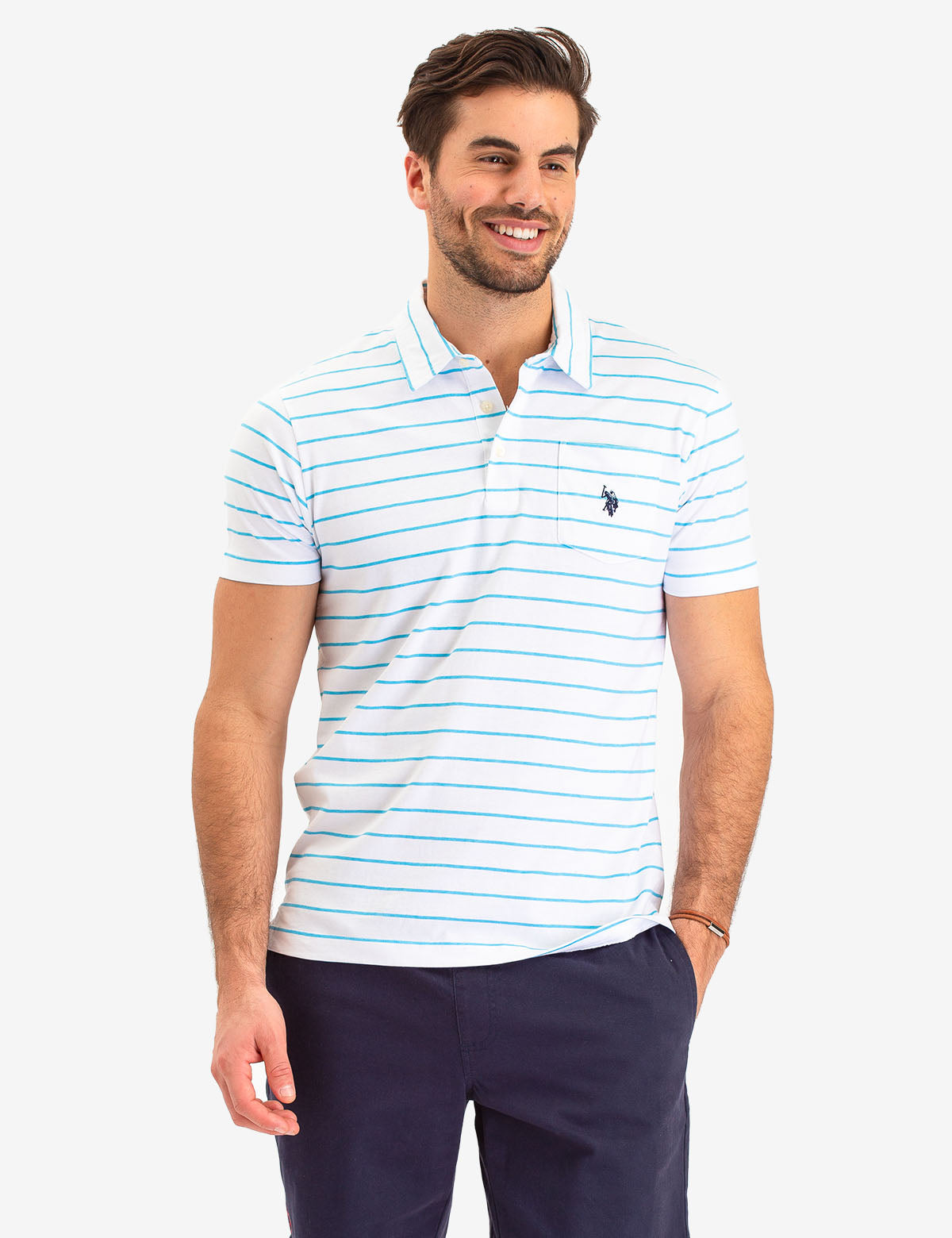 STRIPED POCKET POLO SHIRT - U.S. Polo Assn.
