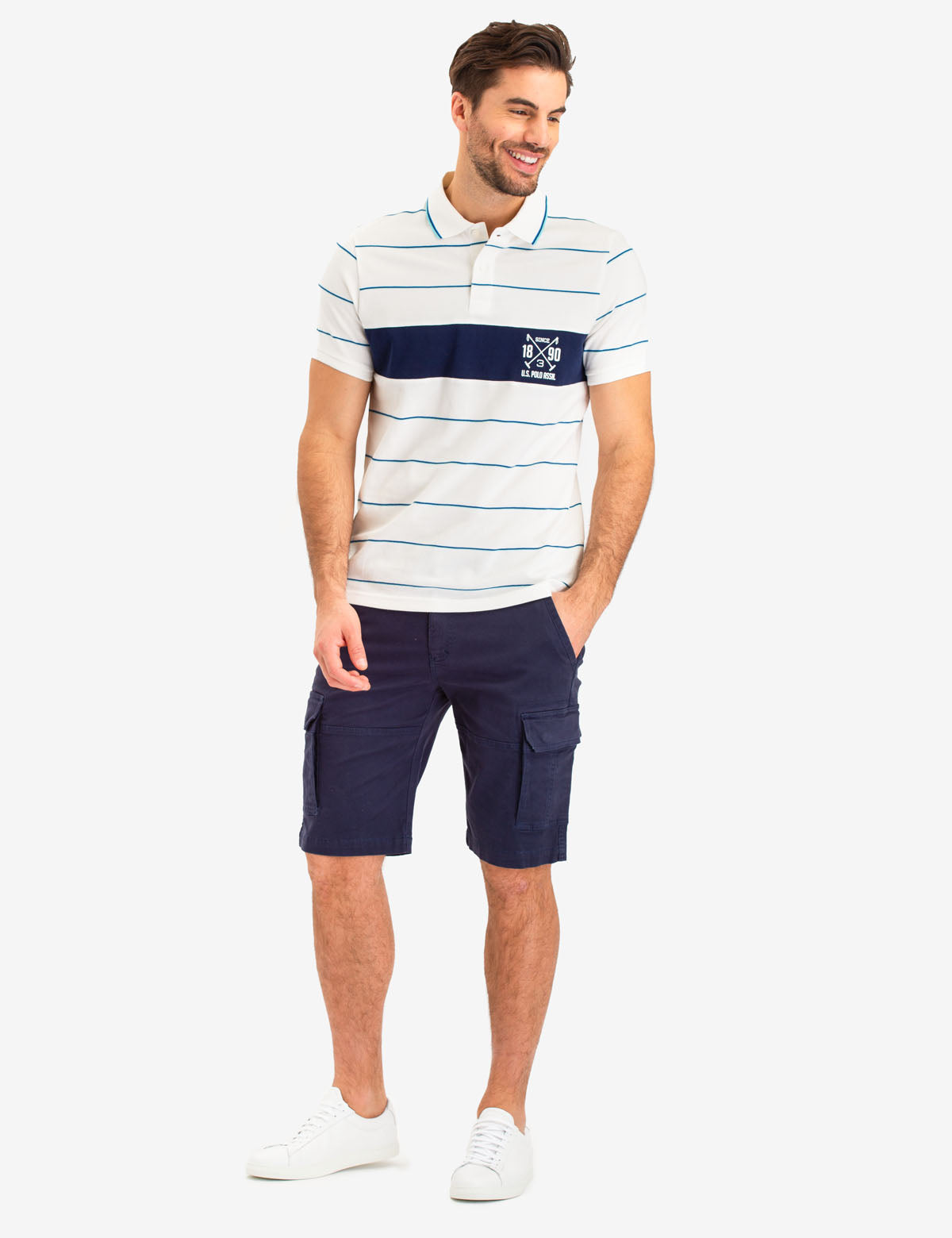 USPA STRIPED LOGO POLO SHIRT - U.S. Polo Assn.