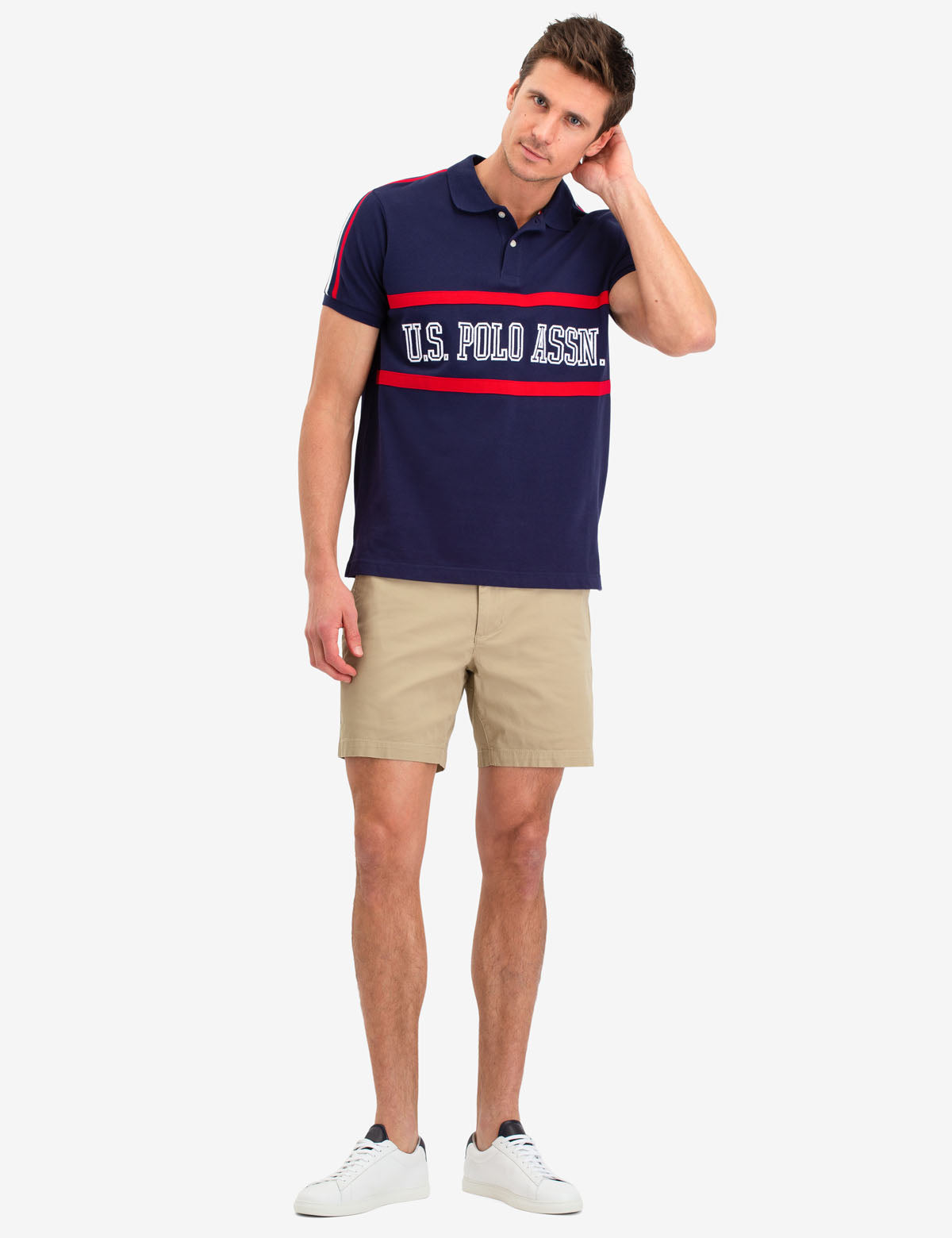 COLORBLOCK CHEST LOGO POLO SHIRT - U.S. Polo Assn.