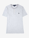 STRIPED SHORT SLEEVE HENLEY - U.S. Polo Assn.