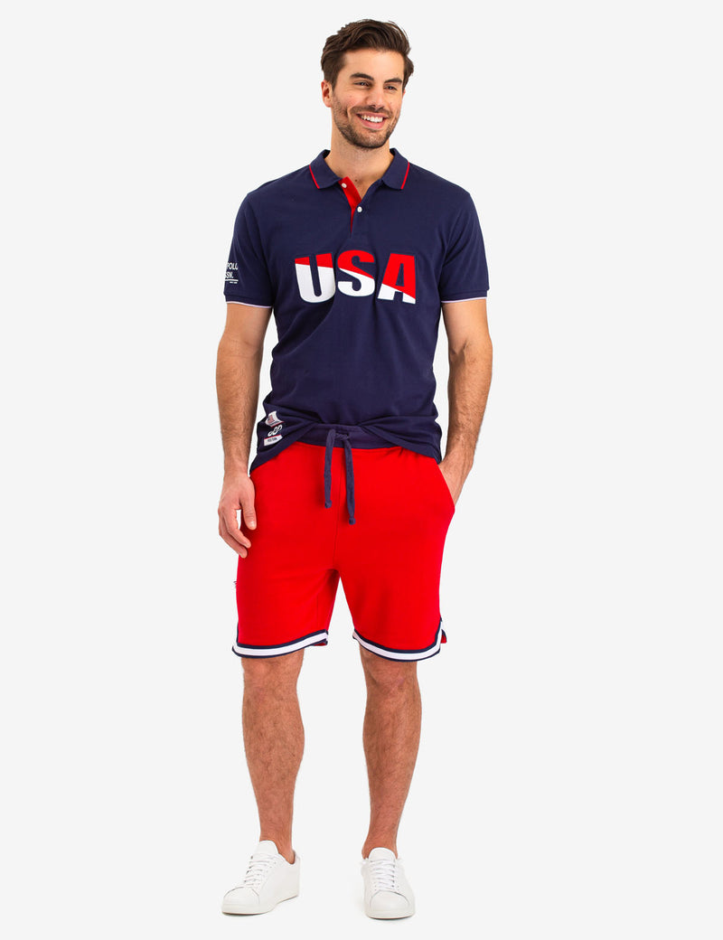 FRENCH TERRY KNIT SHORTS - U.S. Polo Assn.