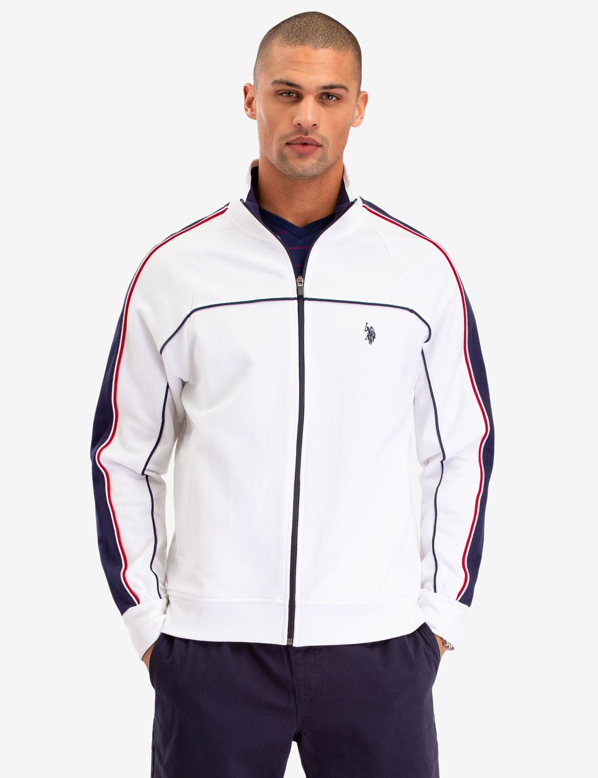 USPA TRACK JACKET WITH PIPING