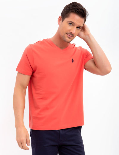 Solid V-Neck Tee-Shirt