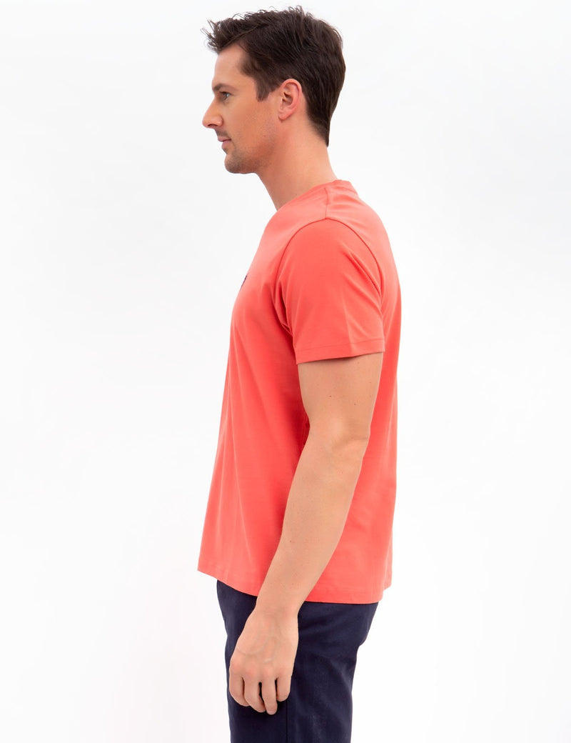 SOLID V-NECK TEE SHIRT