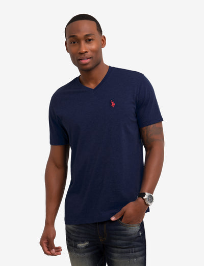 SOLID V-NECK TEE SHIRT - U.S. Polo Assn.