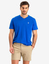 SOLID V-NECK T-SHIRT - U.S. Polo Assn.
