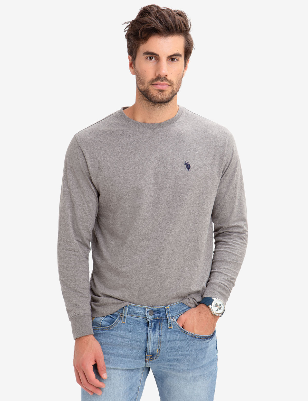 LONG SLEEVE SOLID TEE-SHIRT
