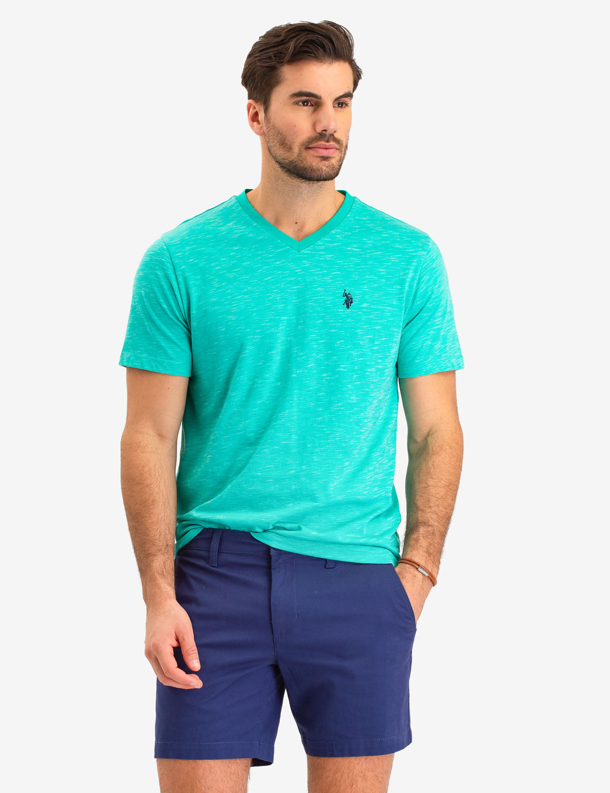 SPACE DYE V-NECK T-SHIRT - U.S. Polo Assn.
