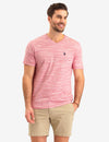 LINEAR SPACE DYE V-NECK T-SHIRT - U.S. Polo Assn.