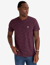 SPACE DYE CREW NECK T-SHIRT - U.S. Polo Assn.