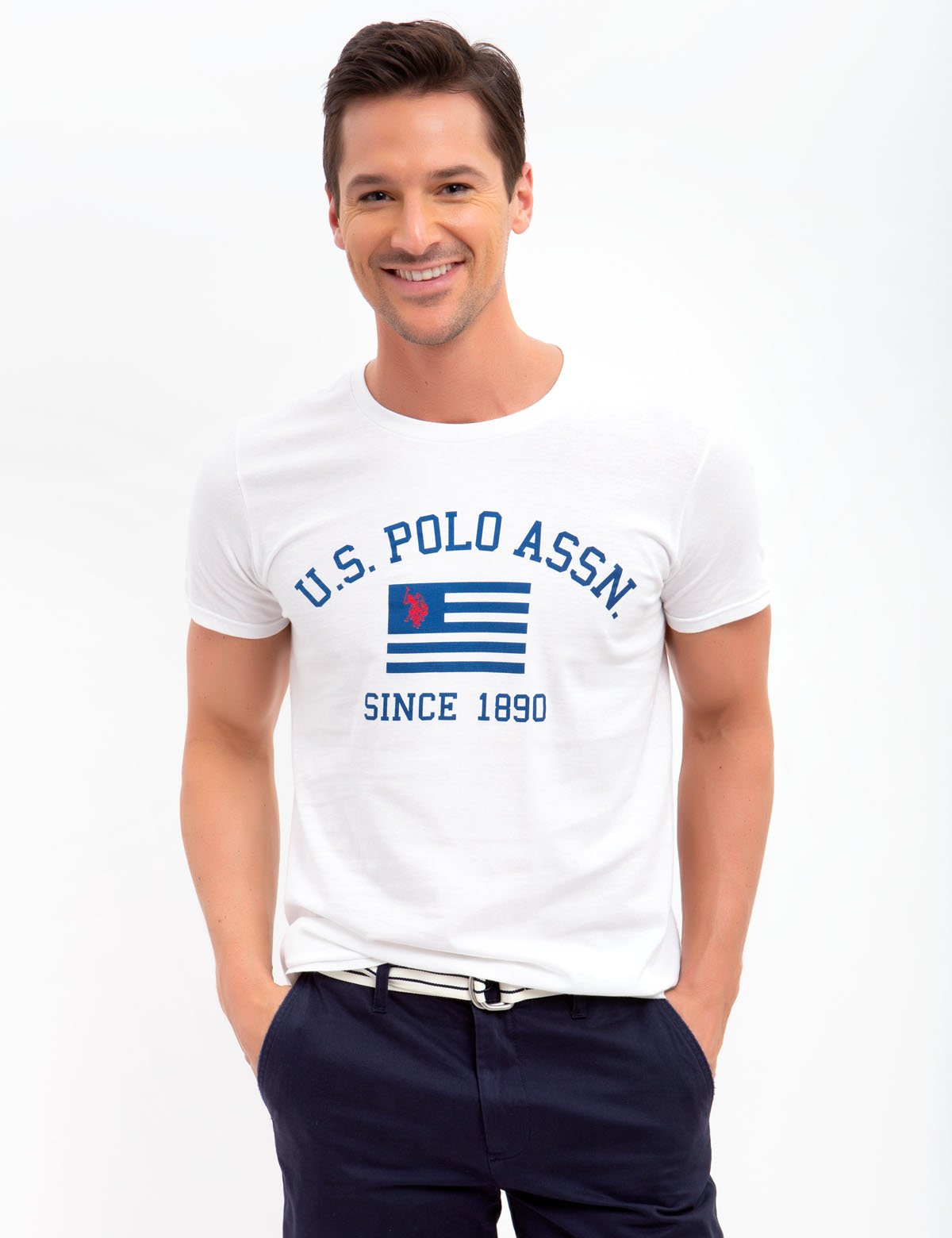 US POLO FLAG CREW NECK