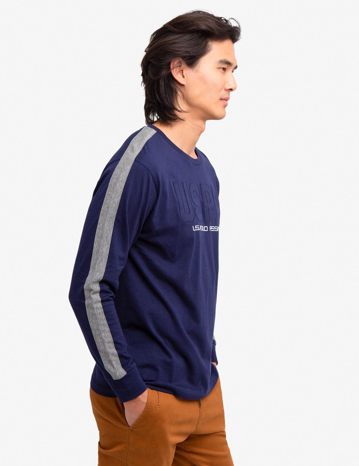USPA PRINT LONG SLEEVE T-SHIRT - U.S. Polo Assn.