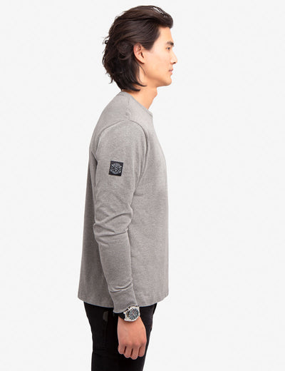 BLACK MALLET VERTICAL WATERMARK LONG SLEEVE SHIRT
