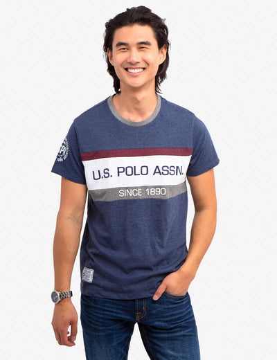 COLORBLOCK TEE-SHIRT - U.S. Polo Assn.