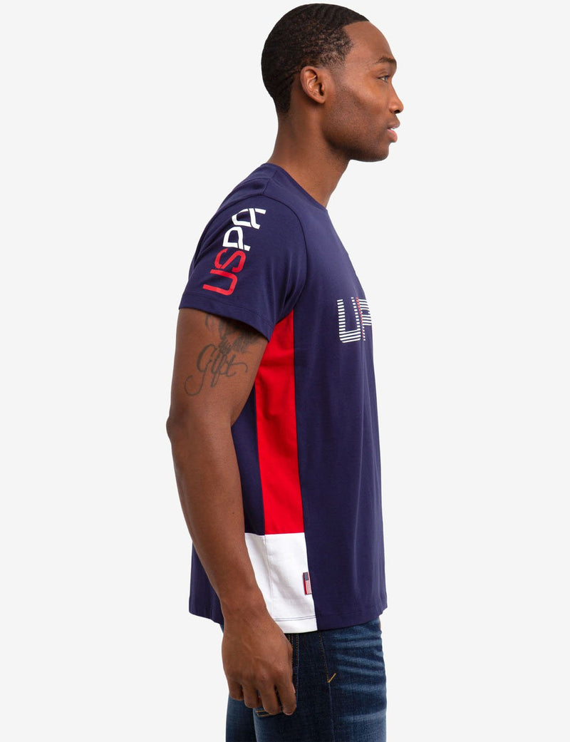 CREW NECK U.S. POLO ASSN. PATCH TEE-SHIRT - U.S. Polo Assn.