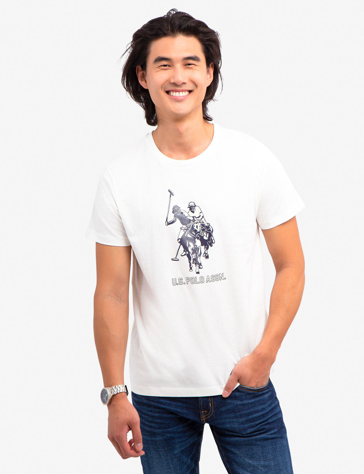 U.S. POLO ASSN. LOGO GRAPHIC TEE-SHIRT