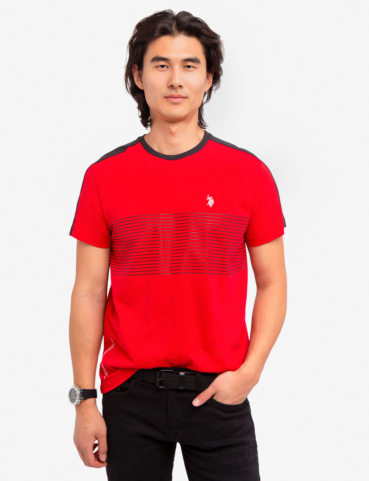 MULTI-COLOR STRIPE TEE-SHIRT - U.S. Polo Assn.