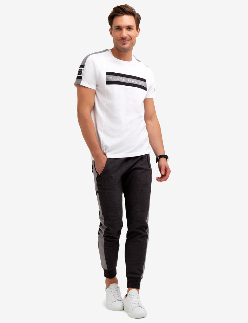 BLACK MALLET CHEST STRIPE TEE-SHIRT - U.S. Polo Assn.