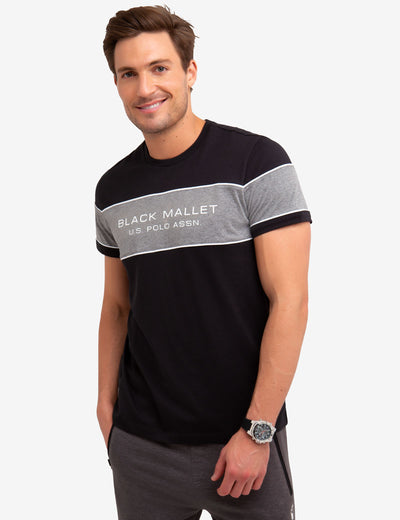 BLACK MALLET COLORBLOCK TEE-SHIRT - U.S. Polo Assn.
