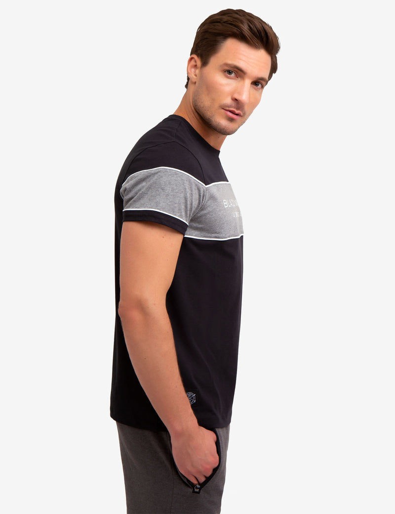 BLACK MALLET COLORBLOCK TEE-SHIRT