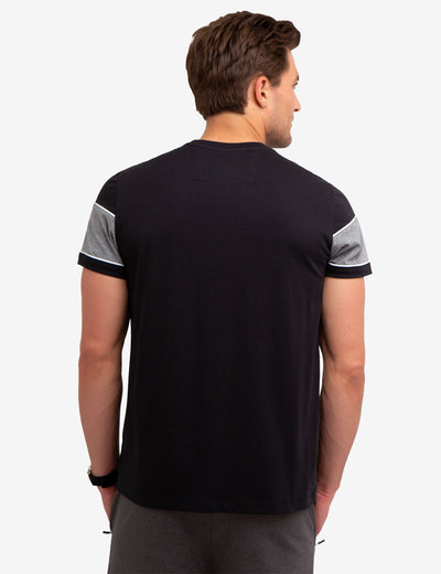 BLACK MALLET COLORBLOCK T-SHIRT - U.S. Polo Assn.