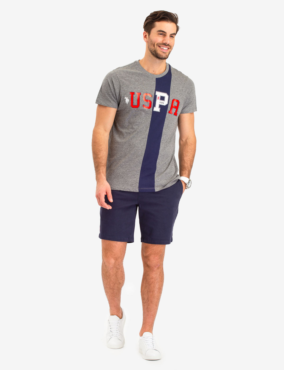 VERTICAL STRIPE USPA T-SHIRT - U.S. Polo Assn.