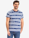UPSA LOGO STRIPED CREW NECK T-SHIRT - U.S. Polo Assn.