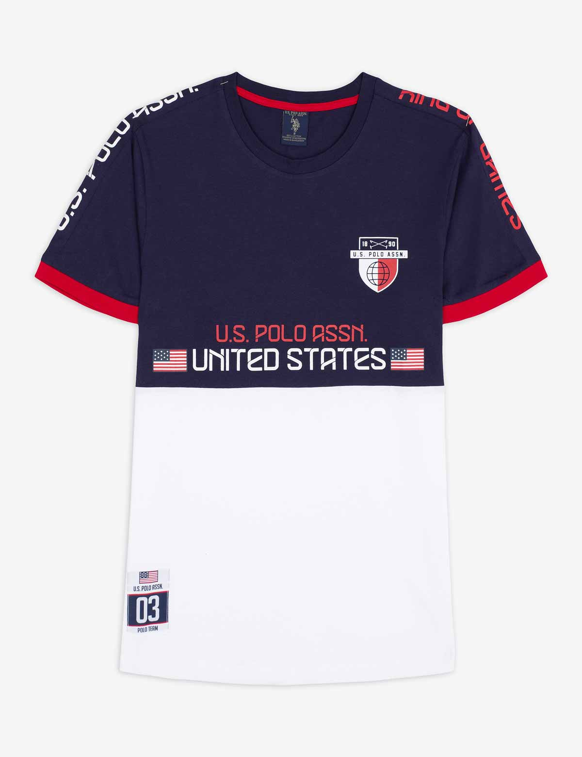 USPA USA COLORBLOCK SIDE TAPING T-SHIRT - U.S. Polo Assn.