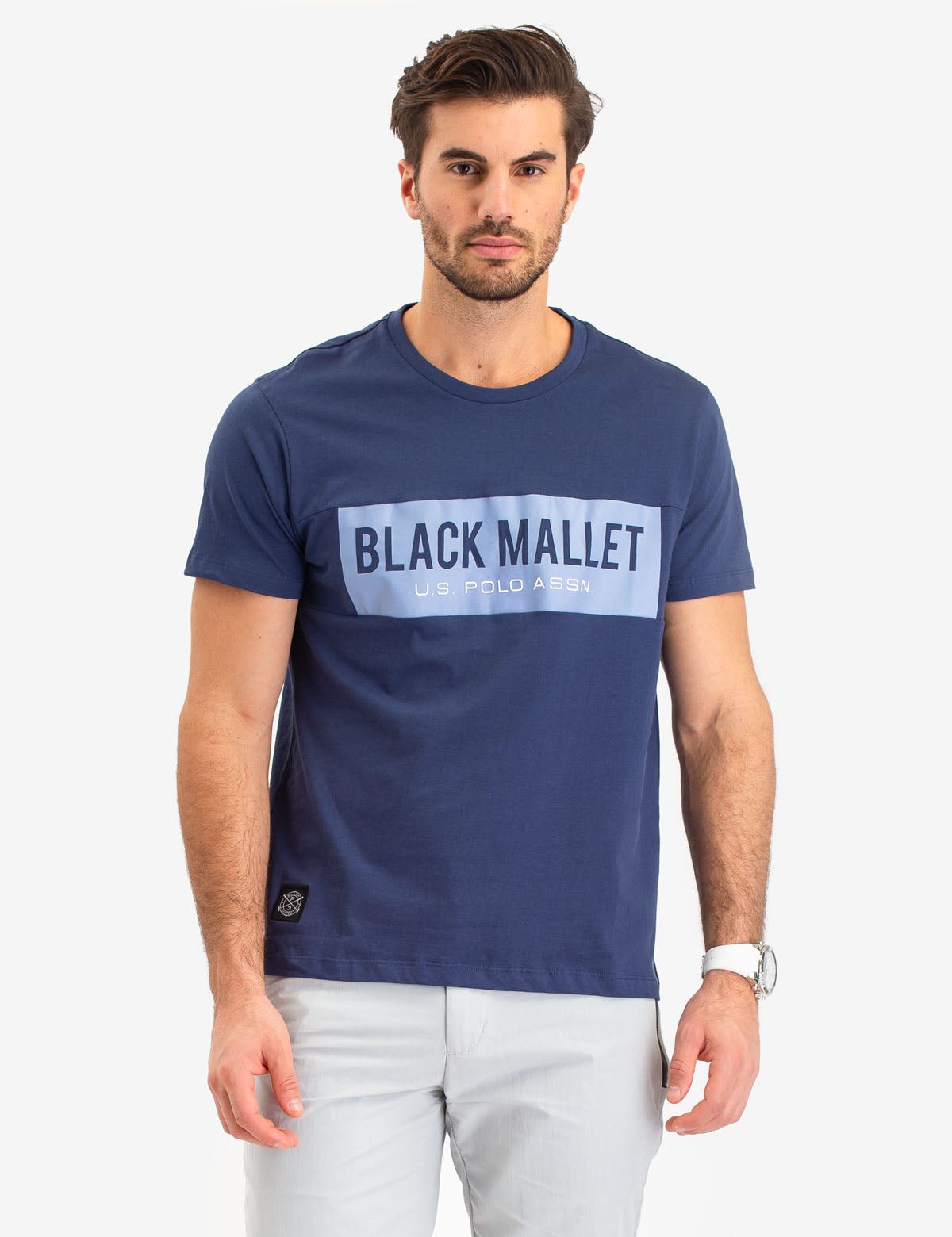 BLACK MALLET CHEST LOGO T-SHIRT