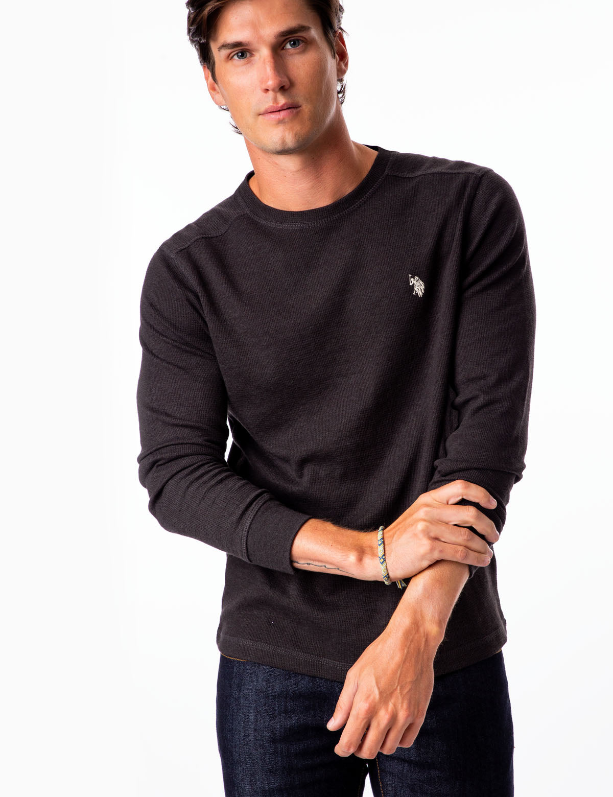 THERMAL CREW NECK SHIRT - U.S. Polo Assn.